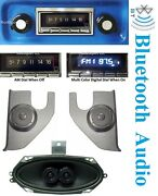 1967-1972 Chevy Gmc Truck Bluetooth Radio Dash Speaker + Cas Kicks With Ac 740