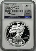 2020 W 1 Silver Eagle Wwii V75 Privy Ngc Pf70 Ucam First Day Of Issue Mercanti