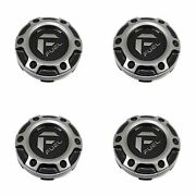 4x Fuel Off-road Wheels Gloss Black Gray Wheel Center Hub Caps 3-1/8od Snap-in