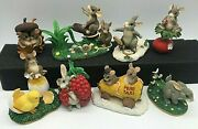 Charming Tails Figurines And 2 Ornaments Lot Of 8 Dean Griff Fitz And Floyd Mint