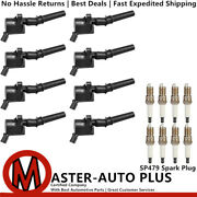 High Performance Engine Ignition Coil And Spark Plug For 97-17 Ford E-150 4.6l V8