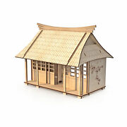 Wooden Dollhouse Vintage Japanese Style Accessories Two-story Doll House New Eco