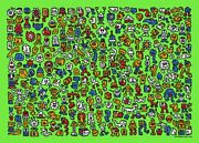 Mr. Doodle - Alien Town Print - Limited Edition X/300 Sold Out - In Hand