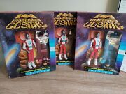 3 Very Rare Vintage 1980and039s Madelman Cosmic Action Figure - Rare Spanish Toy