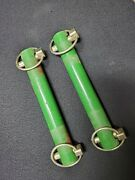 Pre-owned John Deere Tractor 7 1/2 X 1 Pins W/lynch Pins Free Shipping