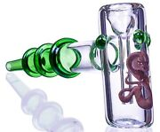 7.5 Triple Ringed Hammer Bubbler Green Glass Water Pipe Cool Bong Cheap Usa