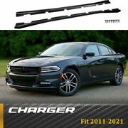 Fit For 2011-2021 Dodge Charger Style Matte Black Side Skirts Extension Body Kit