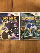 Sonic Unleashed And Colors Nintendo Wii Lot Tested Complete