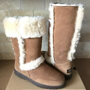 Ugg Sundance Ii Revival Chestnut Suede Shearling Tall Boots Size Us 11 Womens