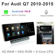 Android 10 Car Gps Stereo Multimedia Player Wireless Carplay For Audi Q7 2010-15