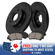 For A4 B5 Vw Passat Front Black Drilled And Slotted Brake Rotors And Ceramic Pads