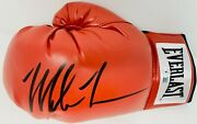 Mike Tyson Signed Everlast Red Boxing Glove Black Auto Beckett Bas