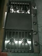Samsung 36 Inch Wide 5 Burner Gas Cooktop W/ Wifi Connect And Cast Iron Griddle
