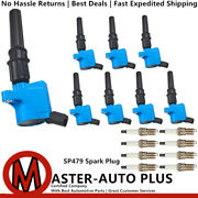 Performance Engine Ignition Coil And Spark Plug For 97-17 Ford E-150 Xl 4.6l V8
