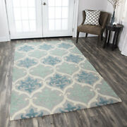 Elegant Transitional Traditional Hand Hooked Wool Area Rug Free Shipping