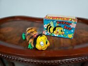 Rare Vintage Tn Windup Buzzy Bee Made In Japan In Box Tin Toy Lot Old Toy In Box
