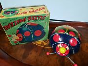 Rare Vintage Tn Buzzing Beetle Batter Op Tin Toy Japan In Box Lots Of Action Lot