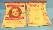 Over The Rainbow 1939 Wizard Of Oz And The Harvey Girls Judy Garland Sheet Music