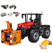 Building Blocks Technic App With Motor Motorised Red Tractor Fastrac Truck 2716p