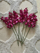 Fake Orchids Deep Pink Real Look Home Decor Rare