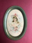 Kenny's Teas Coffees Tip Tray Sign Antique Victorian Advertising Excellent