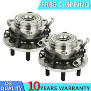 Front Wheel Hubs And Bearings Pair Lh And Rh For 97-03 Dakota Durango 4wd 4x4 W/ Abs