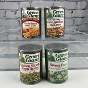 Four Vintage Green Giant Plastic Cans Of Preschool Play Food Toy Kitchen