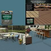 1 Gal. Sc-107 Wedgewood Solid Color Waterproofing Exterior Wood Stain And Seale