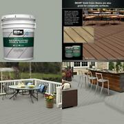 5 Gal. Sc-149 Light Lead Solid Color Waterproofing Exterior Wood Stain And Seal
