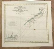 Australia New South Wales 1774 Travel Of Cook Antique Engraved Map 18e Century