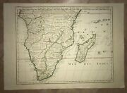 South Africa 1780 Xviiie Century Guillaume Delisle Large Antique Engraved Map