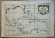 Central America Caribbean Russian Edition 1793 By Bonne Rare Large Map