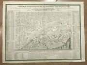 Height Of Mountains In The World 1800 Large Antique Map 19th Century