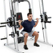 Marcy Md-5191 Smith Cage Home Gym - Includes Ethos Bumper Plates And Olympic Bar