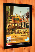 2008 Littlebigplanet Little Big Planet Ps3 Rare Mini Promo Poster Ad Page Framed