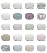 Ambesonne Abstract Pastel Ottoman Pouf Decor Soft Foot Rest And Removable Cover