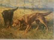 Vtg 48pc Baystate Puzzles Wood Jigsaw Dogs A Tense Moment Lawrence,ma