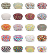 Ambesonne Colorful Scene Ottoman Pouf Decor Soft Foot Rest And Removable Cover
