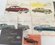 1949 50 And 52 Lincoln Large Prestige Sales Brochures Lot Of 19 Pc Manuals