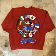 Vintage Disney World Epcot Center Mickey Mouse Pullover Sweatshirt 90s Size 4xl