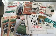 1952 And 53 Lincoln Large Prestige Sales Brochures Lot Of 17 Pc Post Cards Pamplet