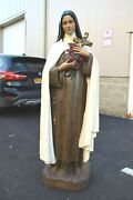Nice Antique Statue Of St. Therese Infant Jesus 60 Ht. Cu473 Chalice Co.
