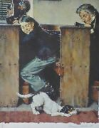 Norman Rockwell Tom Sawyer / Church/ Dog And Beetle Hand Signed 80/200 1973