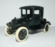 Neat Vintage 6 1/2 Long Arcade Cast Cast Iron Coupe With Rubber Tires Freeport