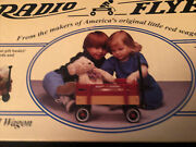 Radio Flyer Wagon Red Wood Kids Toy Mini Model 6 Nos New Old Stock New