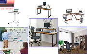 Pneumatic Desk Computer Table W/shelf Home Office Student Dorm Laptop Ergonomic