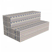 Ambesonne Ethnic Hr Foam Portable Mattress And Fabric Cover In 3 Sizes