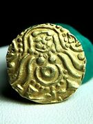 Authentic Hindu Ancient Gold Coin Kalachuris Of Tripuri Genuine Solid 22k Gold