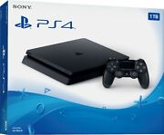 🔥 New Sony Playstation 4 Ps4 Slim 1tb Jet Black Console Only New Sealed