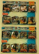 2 Rare Avengers Assemble 8 Figure Gift Sets 16 Vtg Discontinued Figures In All